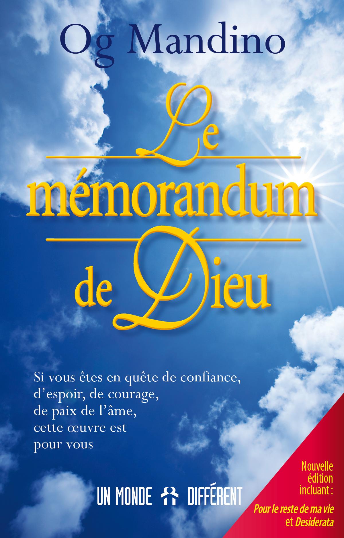 MÉMORANDUM DE DIEU (LE) /  NOUV. ÉDITION